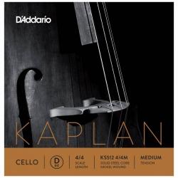 D'Addario KS512 4/4M Kaplan Çello Tek Tel (D)