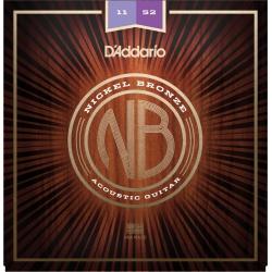 D'Addario NB1152 Nikel Bronz Akustik Gitar Teli (11-52)