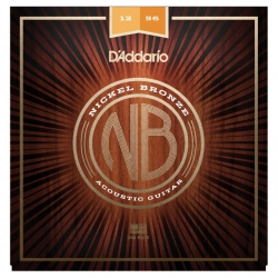 D'Addario NB1256 Nikel Bronz Akustik Gitar Teli (12-56)