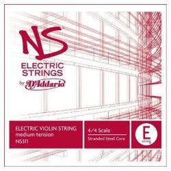 D'Addario NS311 4/4M NS Tek Elektro Keman Teli (E)