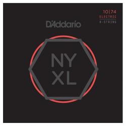 D'Addario NYXL1074 Nikel Wound 8 Telli Elektro Gitar Teli (10-74)