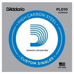 D'Addario PL010 Tek Elektro Gitar Teli (10)