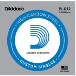 D'Addario PL012 Plain Steel Tek Elektro Gitar Teli (12)