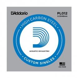D'Addario PL012 Plain Steel Tek Elektro Gitar Teli