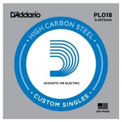 D'Addario PL018 Tek Elektro Gitar Teli (18)