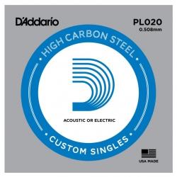 D'Addario PL020 Tek Elektro Gitar Teli (20)