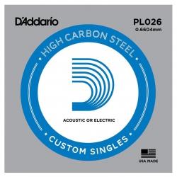 D'Addario PL026 Tek Elektro Gitar Teli (26)