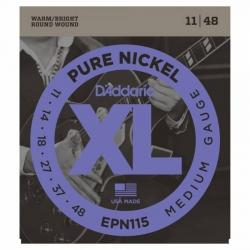 D'Addario Pure Nickel EPN115 Elektro Gitar Teli (011-048)