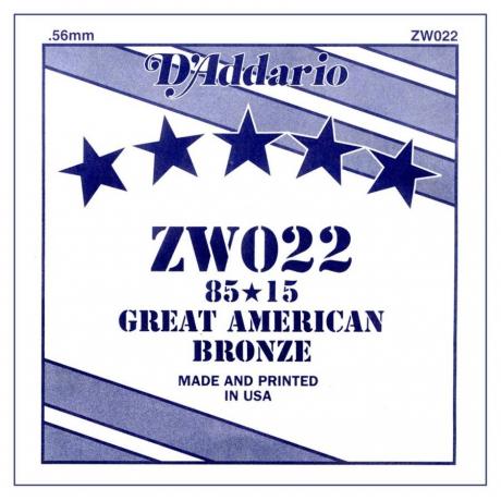 D&apos;Addario ZW022 Tek Akustik Gitar Teli (22)<br>Fotoğraf: 1/1