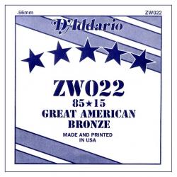 D'Addario ZW022 Tek Akustik Gitar Teli (22)