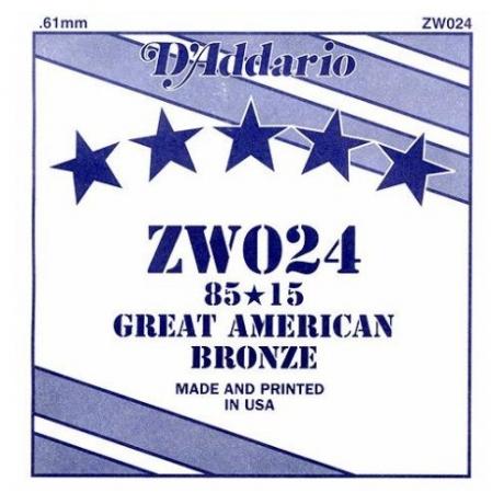 D'Addario ZW024 Tek Akustik Gitar Teli (24)<br>Fotoğraf: 1/1