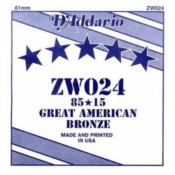 D'Addario ZW024 Tek Akustik Gitar Teli (24)