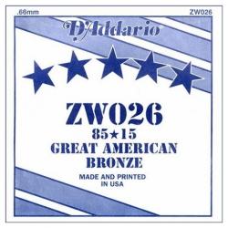 D'Addario ZW026 Tek Akustik Gitar Teli (26)