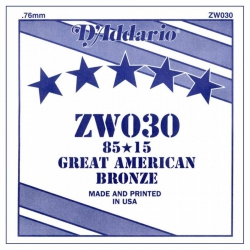 D'Addario ZW030 Tek Akustik Gitar Teli (30)