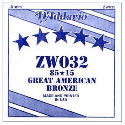 D'Addario ZW032 Tek Akustik Gitar Teli (32)