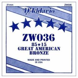 D'Addario ZW034 Tek Akustik Gitar Teli (34)