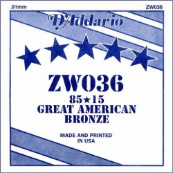 D'Addario ZW036 Tek Akustik Gitar Teli (36)