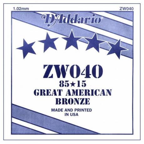 D'Addario ZW040 Tek Akustik Gitar Teli (40)<br>Fotoğraf: 1/1