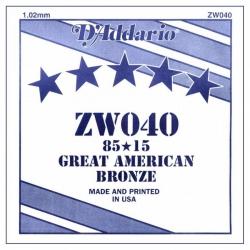 D'Addario ZW040 Tek Akustik Gitar Teli (40)