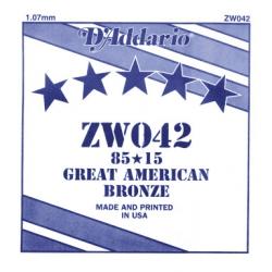 D'Addario ZW042 Tek Akustik Gitar Teli (42)