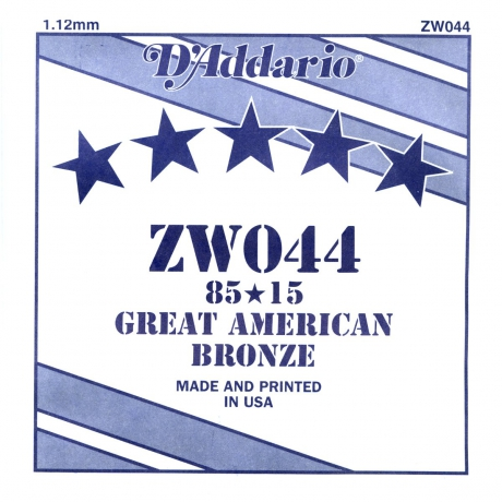 D'Addario ZW044 Tek Akustik Gitar Teli (44)<br>Fotoğraf: 1/1