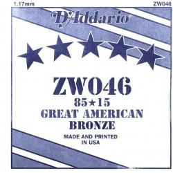 D'Addario ZW046 Tek Akustik Gitar Teli (46)