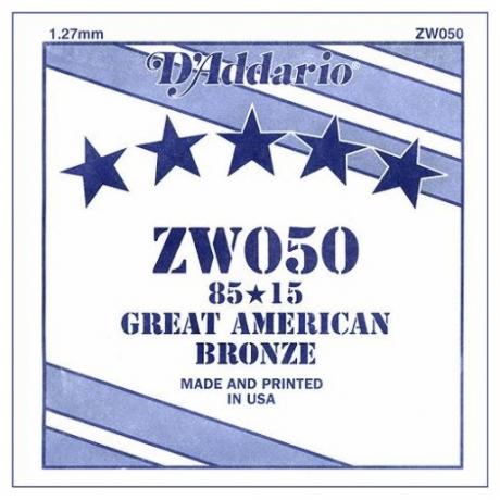 D&apos;Addario ZW050 Tek Akustik Gitar Teli (50)<br>Fotoğraf: 1/1
