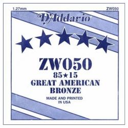 D'Addario ZW050 Tek Akustik Gitar Teli (50)