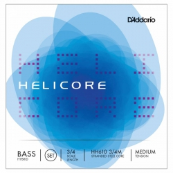 D′Addario Helicore Hybrid HP610 3/4M Kontrabas Teli
