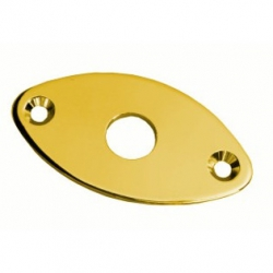 Dr Parts JP1/GD Oval Metal Jack Plate (Gold)