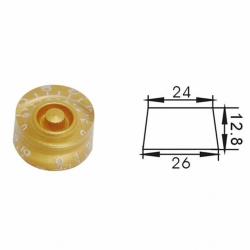 Dr Parts PNB2/GD Plastic Knob (Gold)