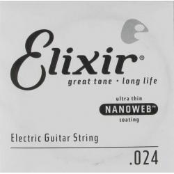 Elixir 024 Nanoweb Tek Elektro Gitar Teli (24)