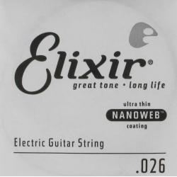 Elixir 026 Nanoweb Tek Elektro Gitar Teli (26)