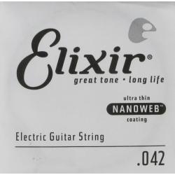 Elixir 042 Nanoweb Tek Elektro Gitar Teli (42)