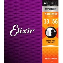 Elixir 11102 NW 80/20 Bronz Akustik Gitar Teli (13-56)