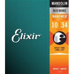 Elixir 11500 Nanoweb Mandolin Teli (10-34)