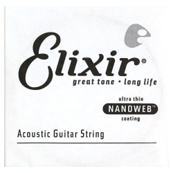 Elixir Nanoweb 80/20 Bronze Akustik Gitar Teli (0.053)