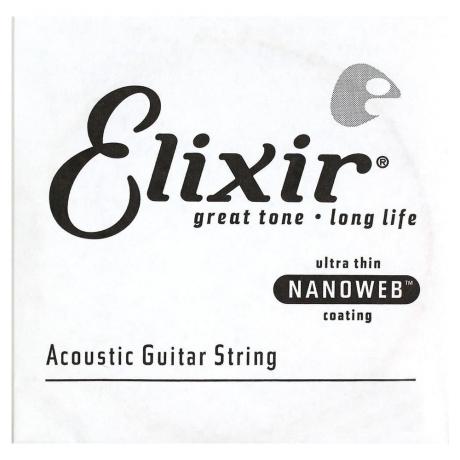 Elixir Nanoweb 80/20 Bronze Tek Akustik Gitar Teli (0.047)<br>Fotoğraf: 1/1