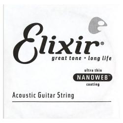 Elixir Nanoweb 80/20 Bronze Tek Akustik Gitar Teli (0.047)