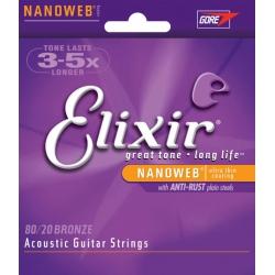 Elixir Nanoweb Bar 6S 016-070 Akustik Gitar Tel Seti