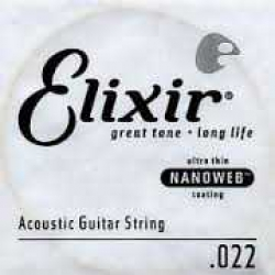 Elixir Nanoweb Bronze Tek Akustik Gitar Teli (22)