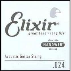 Elixir Nanoweb Bronze Tek Akustik Gitar Teli (24)