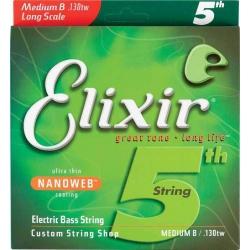 Elixir Nanoweb Medium Tek Bas Gitar Teli (130)
