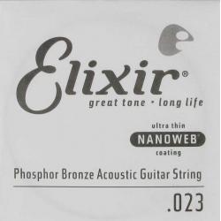 Elixir Nanoweb Phosphor Bronze Tek Akustik Gitar Teli (23)