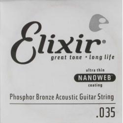 Elixir Nanoweb Phosphor Bronze Tek Akustik Gitar Teli (35)