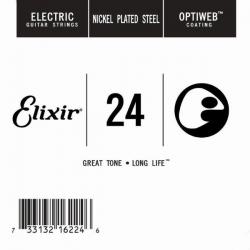Elixir Optiweb SGL Tek Elektro Gitar Teli (24)