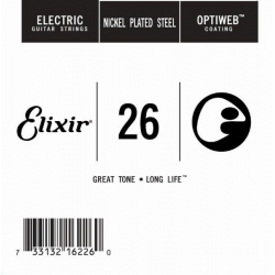 Elixir Optiweb SGL Tek Elektro Gitar Teli (26)