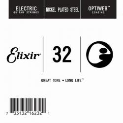 Elixir Optiweb SGL Tek Elektro Gitar Teli (32)