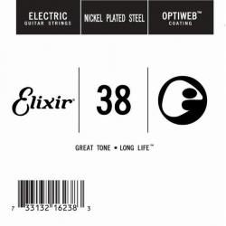 Elixir Optiweb SGL Tek Elektro Gitar Teli (38)