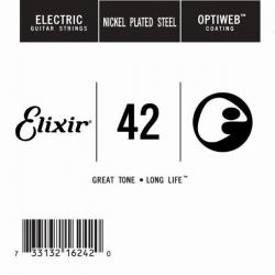 Elixir Optiweb SGL Tek Elektro Gitar Teli (42)